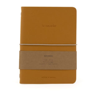 notebook vegan leather honey product