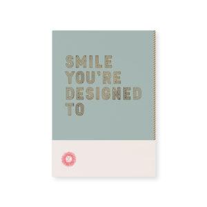 Tinne+Mia Loua postkaart smile you're designed to