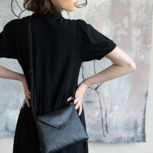 envelope bag black tinne and mia
