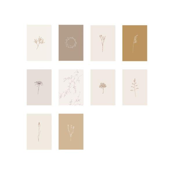 Cadeaukaartjes botanisch natural inkylines-1